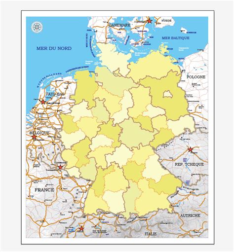 germany map printable germany printable vector map adm phys editable