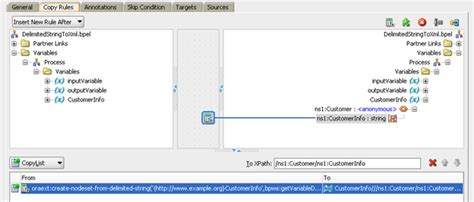 xsl pattern query soa 11g delimited string to xml oracle fusion