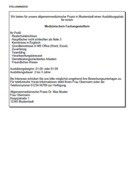 Anschreiben Bewerbung Ausbildungsplatz Medizinische Fachangestellte Bewerbung Medizinische Fachangestellte Ausbildung Sofort