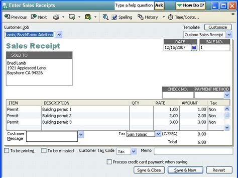 how to change sales receipt template in quickbooks qodbc desktop how to create a sales receipt using qodbc