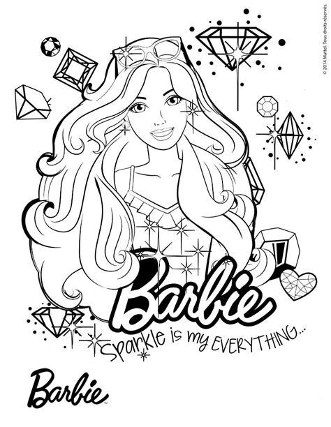 imagenes para colorear barbie dibujos de barbie para colorear e imprimir
