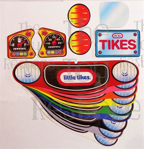 Tikes Replacement Stickers