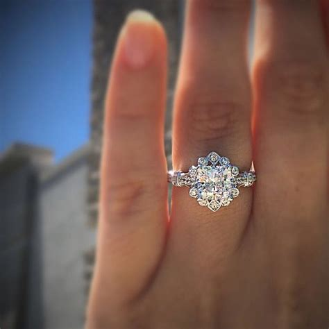 gabriel co engagement rings vintage flare 14k