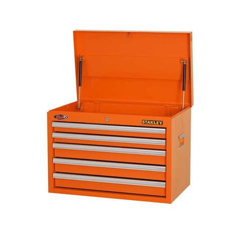 stanley 24 in w 5 drawer tool cabinet stanley 26 in w 5 drawer tool chest orange h5chso the