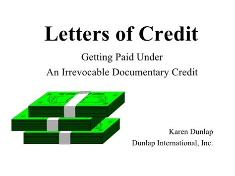 Documentary Letter Of Credit letter of credit