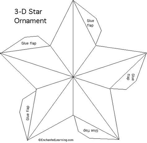 star template printout enchantedlearning com