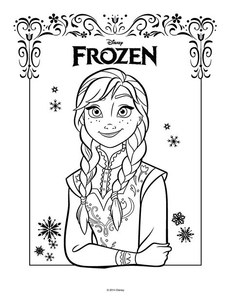 frozen coloring pages just anna free elza from frozen coloring pages