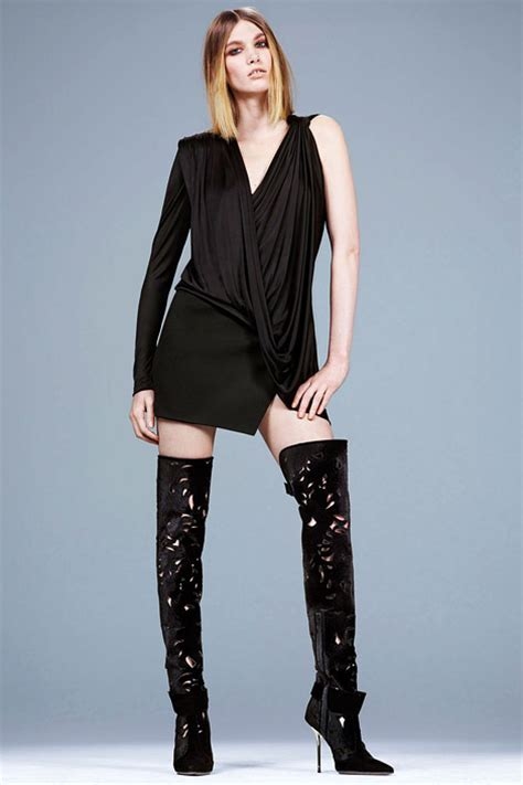 boot fashion irina nikolaeva in versace thigh high boots