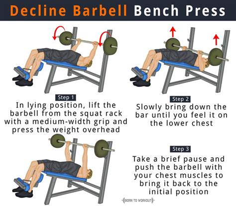 barbell bench presses decline barbell bench press forms benefits muscles worked
