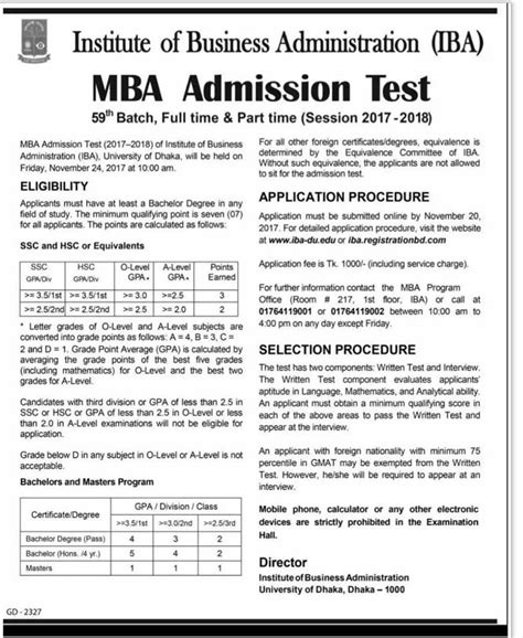 Mba Test by Mba Admission Of Iba Of Du 2017 2018 Test Bd