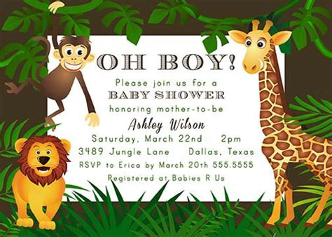printable jungle theme zoo animal baby shower by notableaffairs