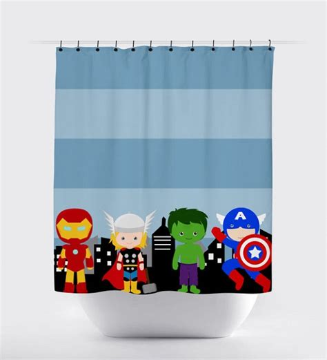 super hero curtains 37 funky bathroom shower curtains ultimate home ideas