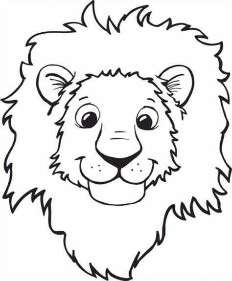 coloring page lion mask imagenes de leones para colorear my blog
