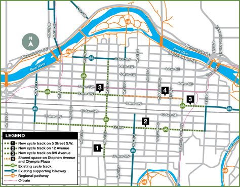 calgary cycling paths infrastructure page 99 the city of calgary cycle track network