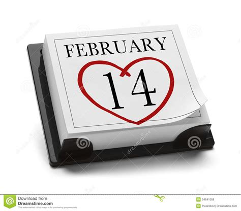 Sell Day Calendar February 14th Stock Photo Image Of Reminder