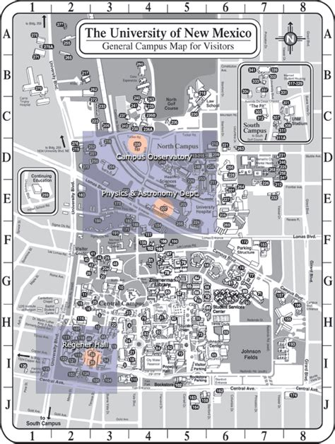 unm map unm cus map click the blue areas to zoom in