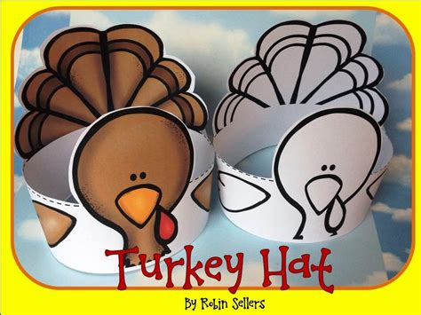 Sweet Tea Classroom Turkey Hat Craft Turkey Hat Craft Template