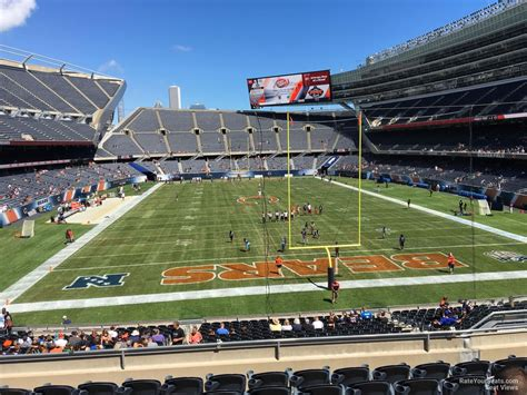 soldier field section 223 chicago bears rateyourseats