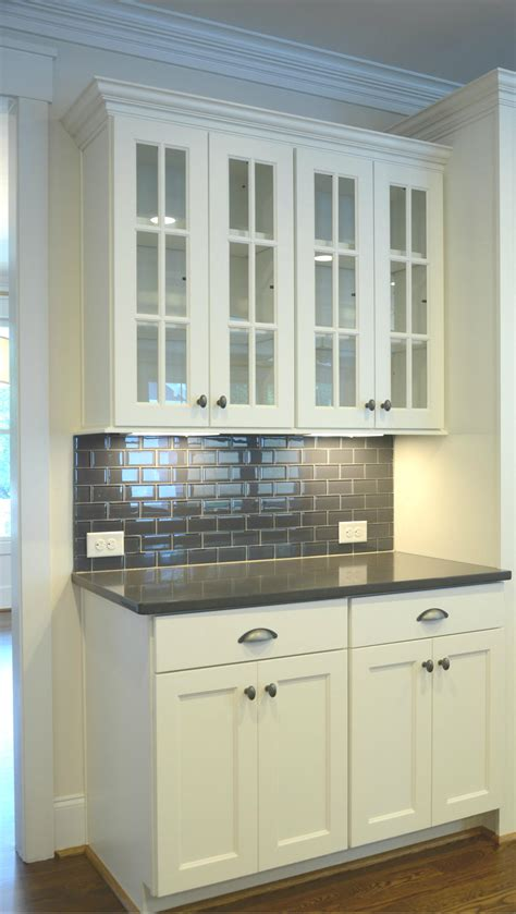 Glass Subway Tile Kitchen Backsplash is the white kitchen cabinet the lbd of your home evans