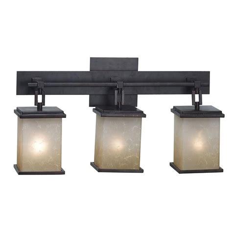 bathroom vanity light fixtures rubbed bronze kenroy home plateau 3 light rubbed bronze vanity light