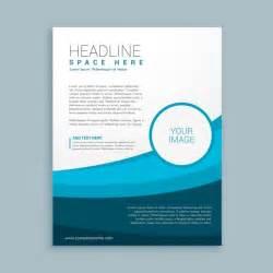 free brochure template downloads blue wavy corporative brochure template vector free
