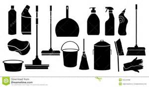 Floor Plan Design Tool cleaning tool icons set stock vector image 44244998
