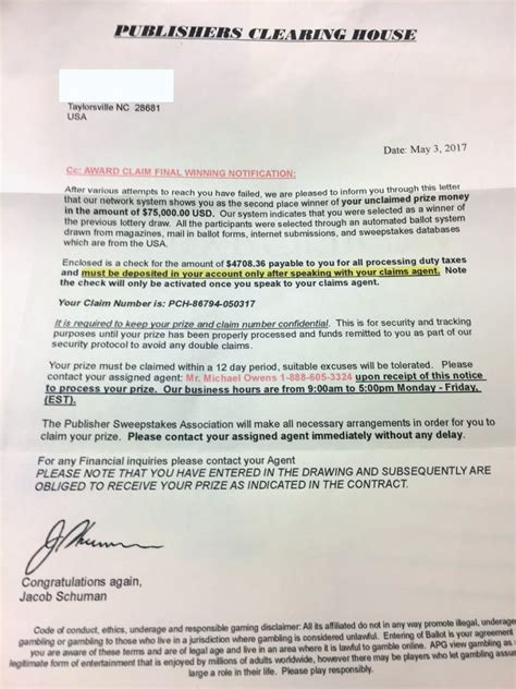 Is Pch A Scam - is publishers clearing house legit 28 images warn about publishers clearing house