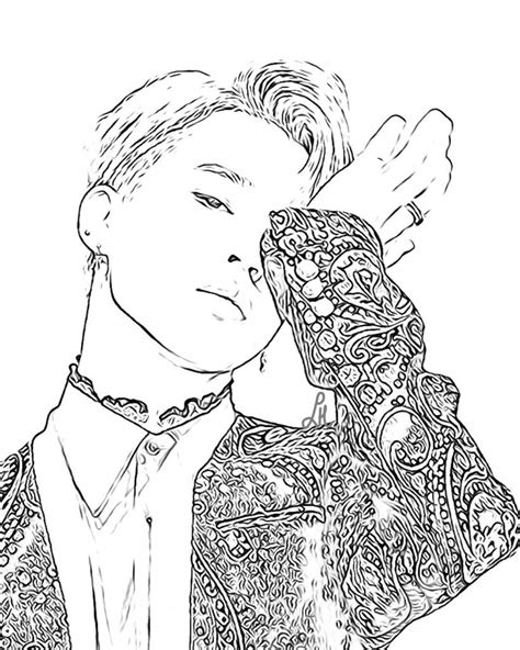 Bts V Coloring Pages by Bts Coloring Kpop Coloring Sheets Coloring Pages