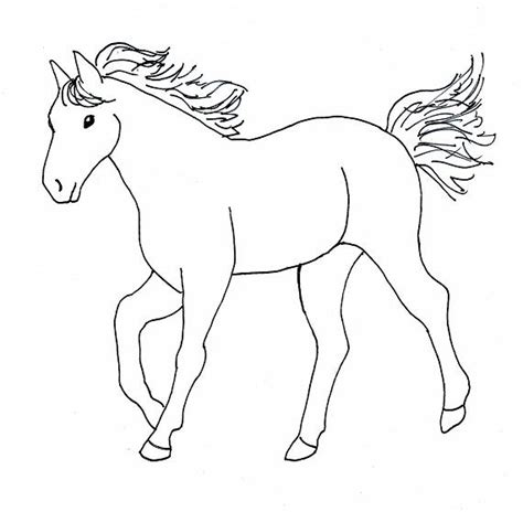 easy pony coloring pages cartoon horse coloring pages cartoon coloring pages