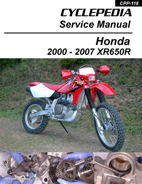 motocross bike repairs honda xr650r motorcycle cyclepedia printed service manual
