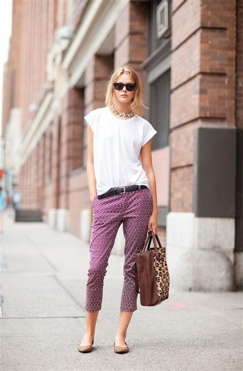 Printed Cuffed Cropped how to wear cropped 2018 fashiontasty