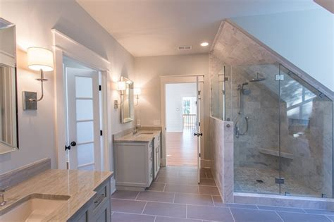 dormer shower transitional bathroom jacksonbuilt