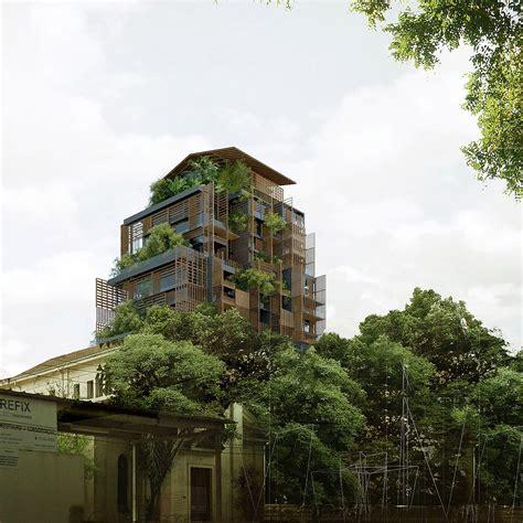 10 floors building plant architecture minimal blogs
