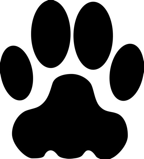 panther paw print clip clipart best clipart best paw print clip clipart best