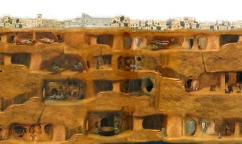House Plans 2000 Square Feet And Under by Derinkuyu Underground City Cappadocia Turkey