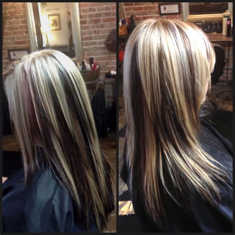 images of vlonde highlights with dark underneath light blonde dark brown dark red violet like the color