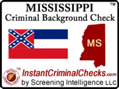 Vermont Criminal Background Check Mississippi Criminal Background Checks For Employment