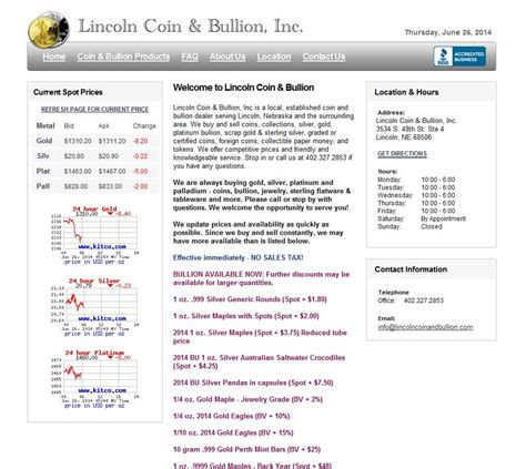 lincoln coin bullion reviews ratings and company details