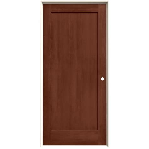 Single Panel Interior Doors Shop Jeld Wen Woodview Amaretto 1 Panel Single Prehung Interior Door Common 36 In X 80 In