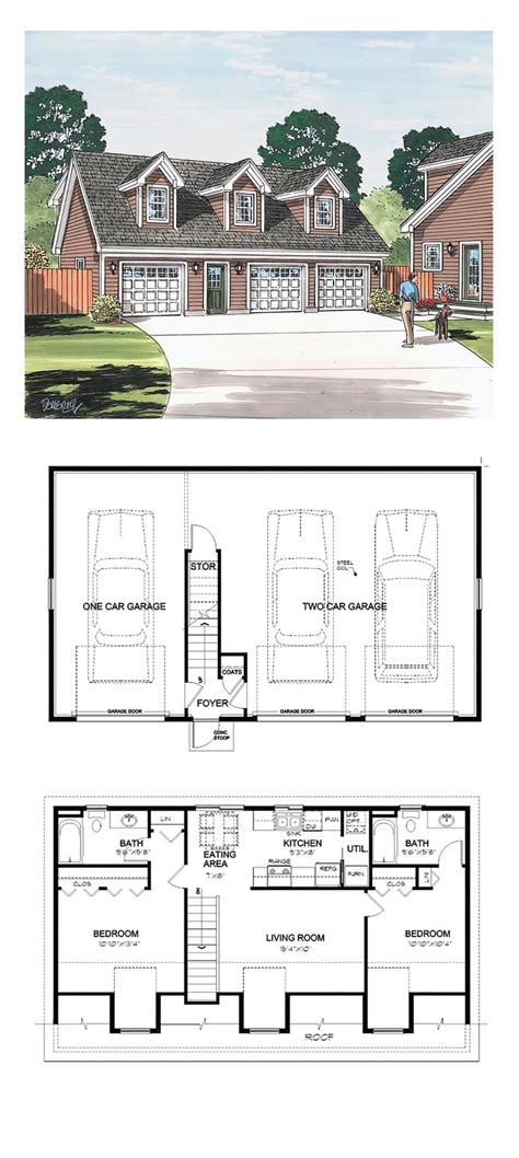garage floor plans with apartments 56 best garage apartment plans images on