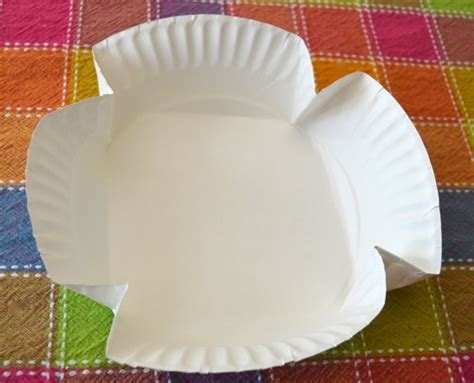 Paper Plate Basket Craft - baskets from a paper plate