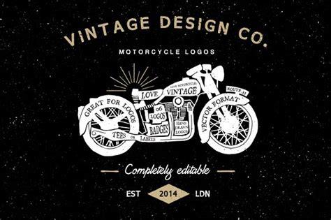 Vintage Motorcycle Logos Logo Templates Creative Market Motorcycle Logo Design Templates