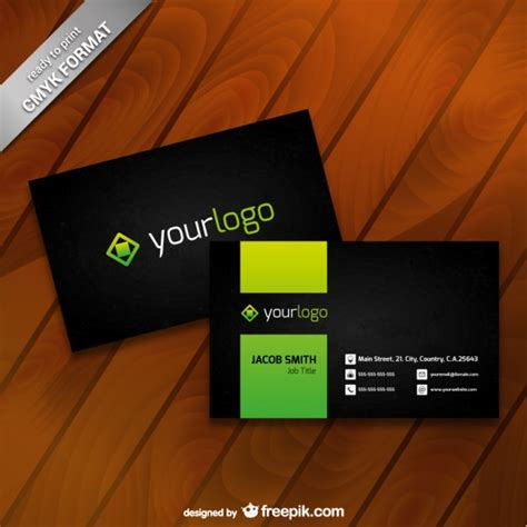 Business Card Template With And Logo business card template with logo vector free