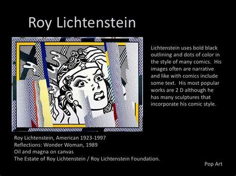 roy lichtenstein subject matter movements post wwii