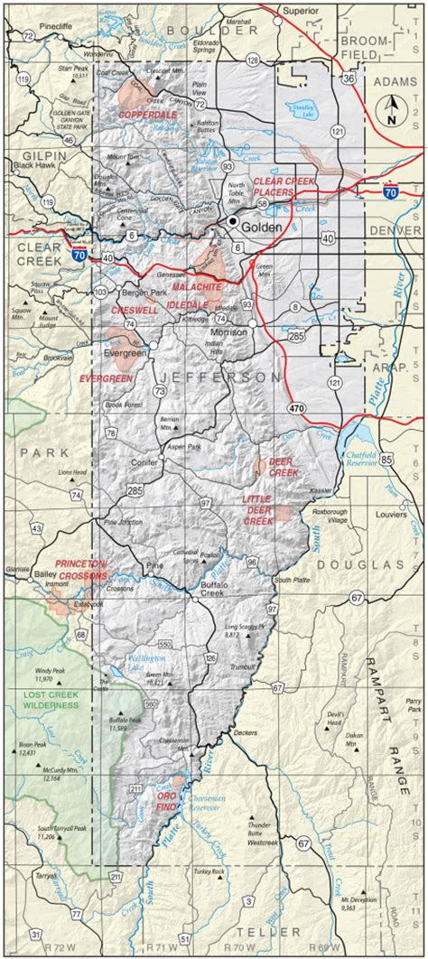 zip code map jefferson county colorado map of jefferson county colorado my blog