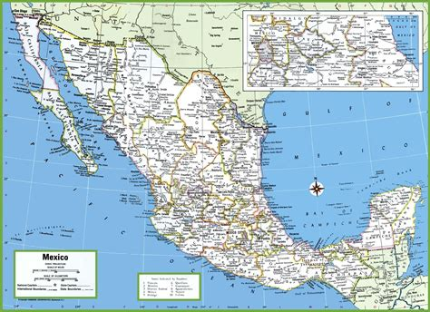 map of the mexico mexico map cities and states