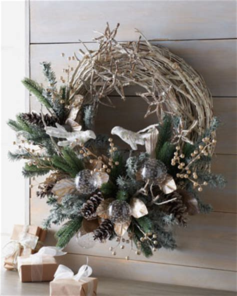 frosted twig christmas wreath traditional holiday