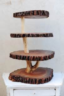 Wooden Home Decor Items Items Similar To Rustic 4 Tiered Custom Wood Tree Slice