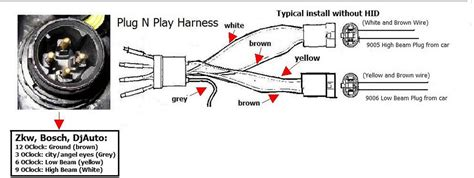 headlight us wiring diagram 4 pin to 6 pin mk4 golf