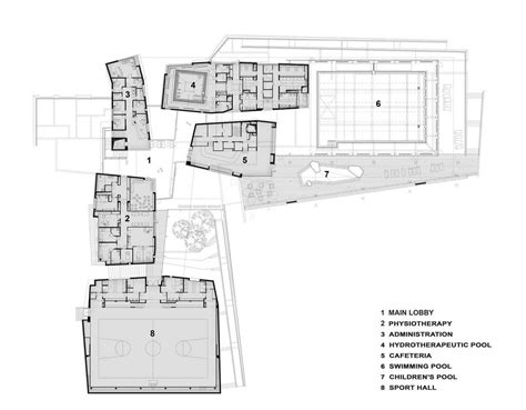 plans design gallery of beit halochem rehabilitation center kimmel